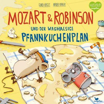 Buchcover - Mozart & Robinson und der waghalsige Pfannkuchenplan